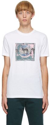 Paul Smith White Zebra Scene T-Shirt