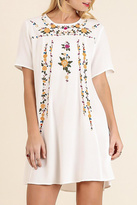 Umgee USA Embroidered Floral Dress