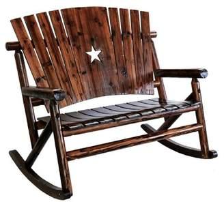 Loon Peak Ardoin Star Double Rocking Chair Loon Peak