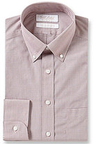 Roundtree & Yorke Gold Label Non-Iron Micro-Grid Slim-Fit Button-Down Collar Dress Shirt