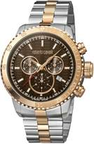 Roberto Cavalli Men's RV1G035M0086 Dial with Two-Toned Stainless-Steel Band Watch.