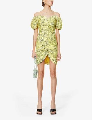 Lavish Alice Floral-print woven mini dress