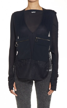 Off-White Oversized Pockets Net Gilet