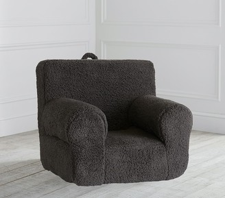 Pottery Barn Kids Charcoal Cozy Sherpa Anywhere Chair Slipcover Only