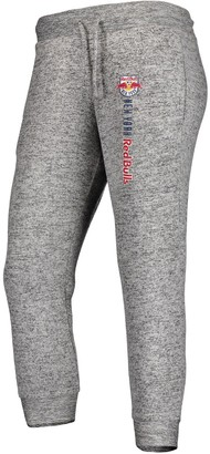 Women's Fanatics Branded Heathered Gray New York Red Bulls Cozy Collection MLS Steadfast Crop Jogger Pant