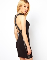 Asos Saftey Pin Cross Back Mini Dress