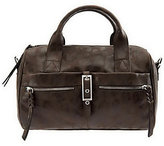 B. Makowsky As Is Leather Zip Top Convertible Satchel