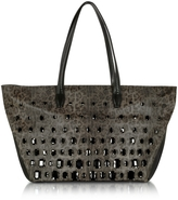 Class Roberto Cavalli Obsession Treasure Animal Print Eco Leather Tote Bag w/Crystals