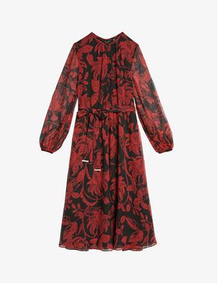 Ted Baker Hadlee rococo button-down woven midi dress