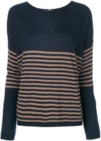 Steffen Schraut V-neck striped sweater