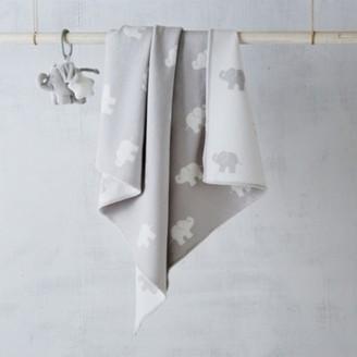 The White Company Grey Elephant Blanket, Grey White, One Size