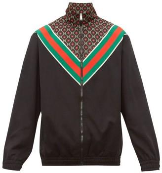 Gucci GG-star Jersey Jacket - Mens - Black Brown
