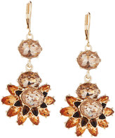 Fragments for Neiman Marcus Floral Crystal Statement Drop Earrings, Champagne