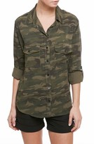 Sanctuary Women's Camo Print Boyfriend Shirt