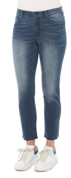 """Democracy Women's """"Ab"""" Solution Slim Straight with Pulled String Hem Jeans"""