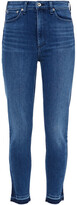 Thumbnail for your product : Rag & Bone Nina Cropped Frayed High-rise Skinny Jeans
