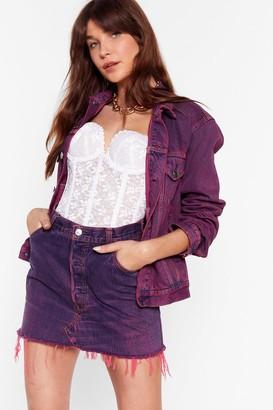 Nasty Gal Womens Vintage Dye-ing to See Ya Denim Skirt - Pink
