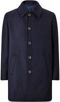 Jigsaw Double Face Wool Overcoat, Navy