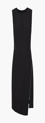 Milly Asymmetric Zip-detailed Cady Mini Dress