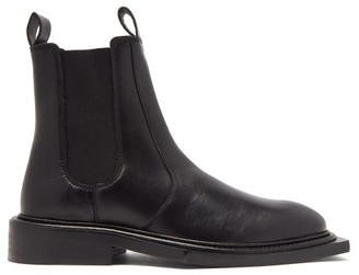 Martine Rose Hacienda Square-toe Leather Chelsea Boots - Black