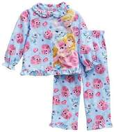 Disney Palace Pets Toddler Girls Flannel Button Up Pajama Set