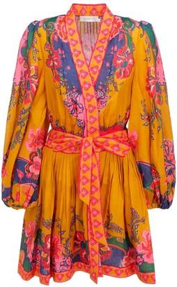 Zimmermann Lovestruck Wrap Mini Dress