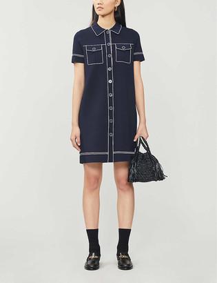 Sandro Ralphi stretch-knitted mini dress