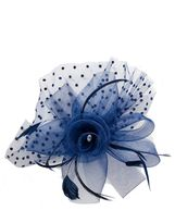 Quiz Navy Polka Dot Fascinator