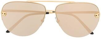 Cartier Panthere de aviator-frame sunglasses