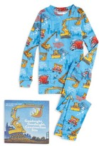 Toddler Boy's Books To Bed Goodnight Construction Site Fitted Two-Piece Pajamas & Book Set