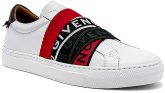 Givenchy Elastic Webbing Sneakers in White, Red & Black | FWRD
