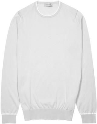 John Smedley Astine light grey cotton jumper