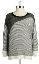 Dkny Jeans Women Striped Knit Sweater