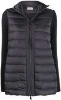 Moncler quilted panel zipped jacket