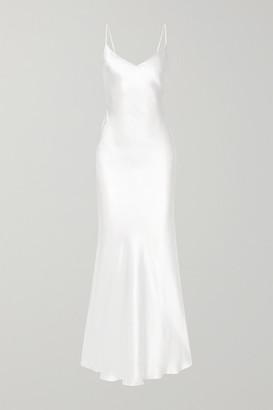 Rasario Silk-satin Gown - White
