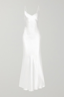 Rasario Silk-satin Gown - White