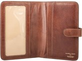 Maxwell Scott Bags Smart Tan Leather Small Travel Document Holder