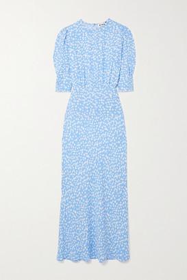 Rixo Lucile Floral-print Crepe Dress - Sky blue