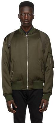 Alexander McQueen Khaki Harness Bomber Jacket