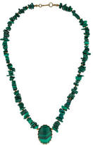 Miriam Haskell Malachite Beaded Necklace