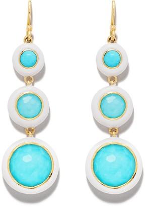 Ippolita 18kt yellow gold Lollipop Carnevale 3-Stone drop earrings