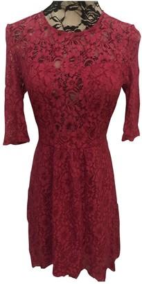 Style Stalker Burgundy Lace Dress for Women