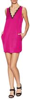 Lucca Couture Lace Trim V-Neck Shift Dress