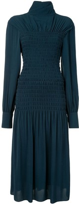 Proenza Schouler Open Back Pleated Midi Dress