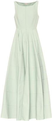 Alaia Cotton-jacquard midi dress