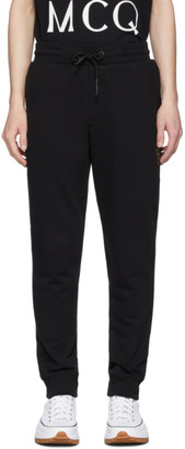 McQ Black Embroidered Logo Sweatpants