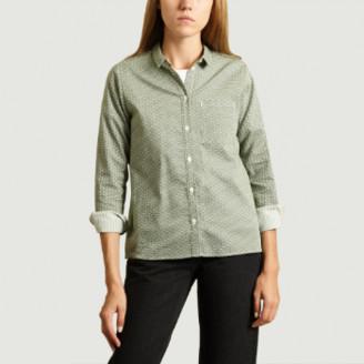 Green Cotton Les Expatries LES EXPATRIES Waves Pattern Workout Shirt - s | cotton | green - Green/Green