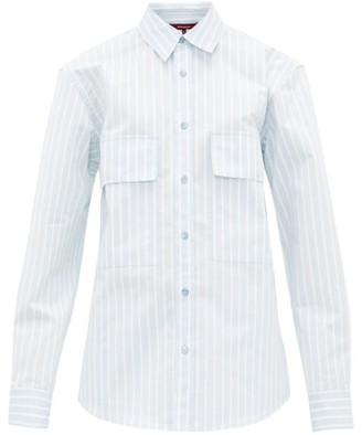 Sies Marjan Torres Striped Cotton-blend Shirt - Blue White