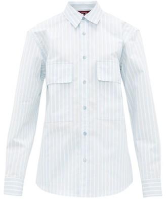 Sies Marjan Torres Striped Cotton-blend Shirt - Womens - Blue White
