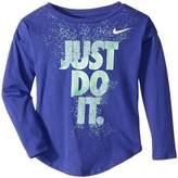 Nike Hard Stop Just Do It Modern Long Sleeve Tee Girl's T Shirt